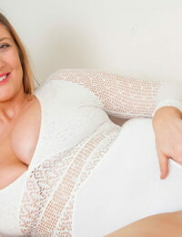 Round inexperienced Jenny Baxter pinches nips as she peels off to sheer nylons