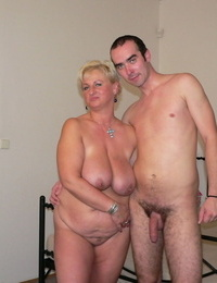 Homemade pic set: youthful guy munches cunt and pounds fatty mature lady