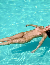 Sidney loves her individual swimming pool. every day she loves a thin dipping an - part 244