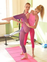 Toe deepthroating practices: yoga three-way porn for sole paramours - part 731