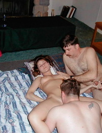 Naughty inexperienced girlfriends pounding in home fuckfest soiree - part 462