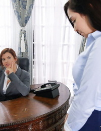 Young secretary is disciplined with big shockingly from wicked boss lady - part 519