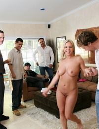 Bree olson nailing and blowing group of wild dudes - part 321