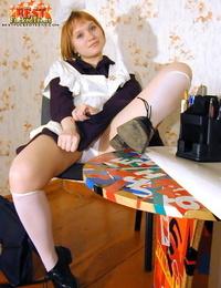 Russian schoolgirl teasing - part 307
