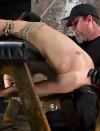 Young blond stunner is devastated in cruel restrain bondage and made to cum! - part 985