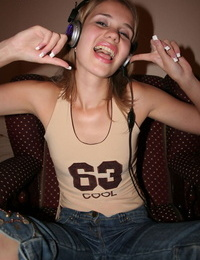 Listening to music nude - part 152