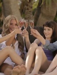 Hot oiled teenage lesbian girls fucking outdoors - part 466