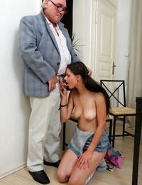 Teenage student mazy Teenage pleasing old professor cock for grades - part 404