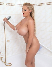 Huge tits lady katie thornton jerking in the shower - part 396