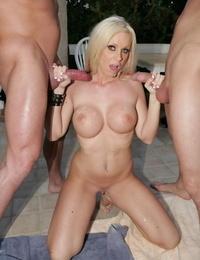 Dual dicked blonde kelly - part 495