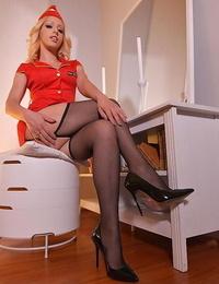 Simply red: naughty stewardess masturbates in hotel culos - part 1649
