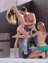 2 glamour teens fucked in 3 way hook-up - part 406