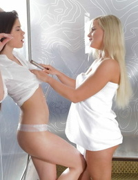 Little fad and marry queen are nasty lesbian stunners ready for oral hookup - part 116