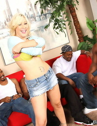Hot blonde krissy leigh does anal with trio fat cocked blacks - part 594