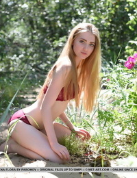 Beginner lena flora shows off her creamy, slender body as she peels off outdoors - part 1808