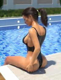 psmike poolside bikini going knuckle deep
