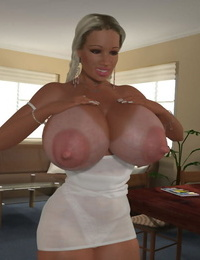 Sexy 3d blond honey lactating her thick milky tits - part 1177