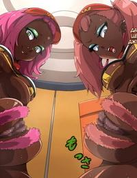 mega w Onna ga Subete Gehin na Mega-slut ni Natta Nichijou Burger Shop Hen Russian - part 3