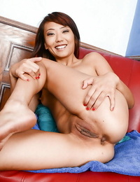 Close up posing action features unexperienced Asian stunner Miko Dali