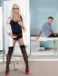 Experienced blond Madison Scott is toying with that lovely hard cumbot
