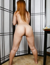 Asian redhead Asia Zo bare-breasted her lovely anal crevice with enjoyment