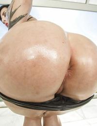 Tattoo model Dollie Darko flaunts her huge fat nut outdoors