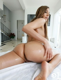 Latina lady Moka Mora works her tasty ball-sac free from white yoga trousers