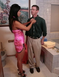 Big squirted asian lassie gives a decent wet and soapy erotic rubdown