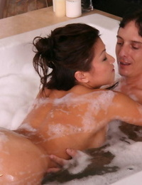 Moist Asian girl Jackie Lin is doing the hottest rubdown to her beau
