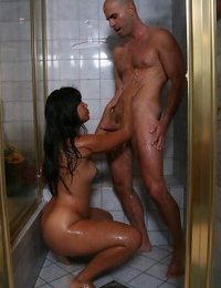 Bodacious asian masseur has some humid fun with her horny dangled client