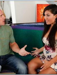Asian plumper wife London Keyes taking big dick in her moist pussy
