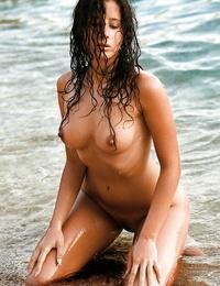 Big blasted deep-throaters Sabina Cedic showing her graceful body outdoor