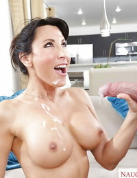 Intense sex with the step son for brunette MILF with big hooters Lezley Zen
