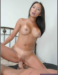 Fabulous asian MILF with shapely boobs gets a hefty dick to please