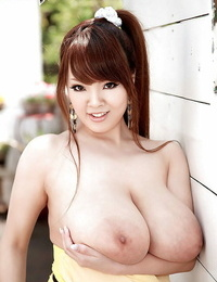 Teen cockblowers honey Hitomi unveiling thick Asian boobs and cute nut