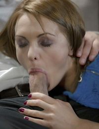 Scorching chick Dominica Phoenix taking cum shot on tongue after providing blowjob