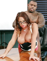 Nerdy Mummy Tory Lane taking nomable anal invasion sex from thick white and dark-hued cocks