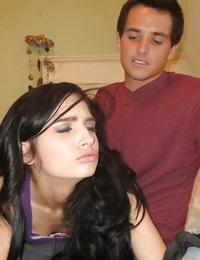 Teen brunette Zoey Kush is enjoying an BDSM sex with her lover