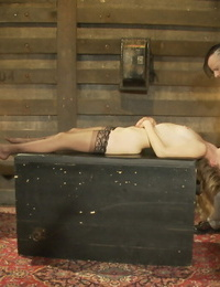 Magnificent sub Mona Wales gets pleased by her tormentor before gulping hot jizz