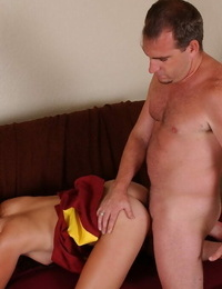 Lovely cheerleader gives head and gets her shaved labia shafted xxx