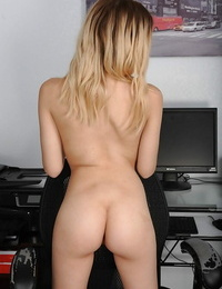 Lovely inexperienced girl Cora Ora taking off her clothes to model nude for first time