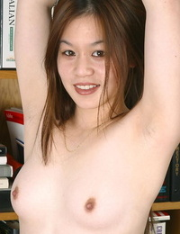 Puny Asian first timer Jasmine unclothing bare for bare modelling debut
