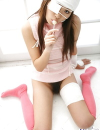 Ultra-kinky asian coed Miho Sonoda showcasing her upbeat forms