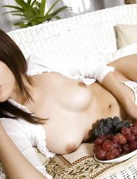 Lusty asian coed Rina Himesaki displaying her tempting kinks