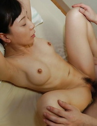 Japanese housewife Kanae Otani gives spouse a butt cheeks and takes creampie