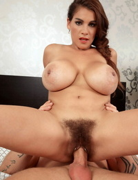 Big-titted Euro chick Mischel Lee gets her hairy bush stuffed hard
