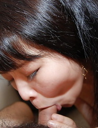 Yummy asian teen Aki Kitamura gives head and gets her hairy cunt boned-up