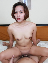 Youthful Asian lady sports a creampie after screwing lovemaking tourist