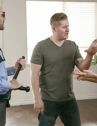 Busty housewife Abigail Mac taking rough fucking from policeman