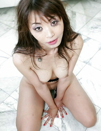 Asian slut Marica Hase complies four fat shafts and receives a ample facial cumshot